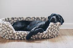 Wir stellen einen wundervollen Hundekorb aus handgemachten Filzkugeln von Nepaldo vor. Ein absoluter Hingucker für jedes Zuhause.