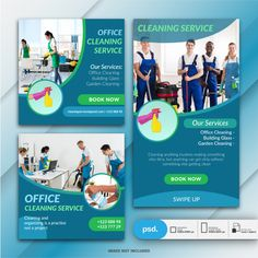 Cleaning Service Flyer, Office Cleaning Services, Cleaning Business Cards, Social Media Poster, Social Media Design, Free Psd Flyer, Flyer Template, Banner Template, Clean Book