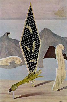 René Magritte - Les Epaves de l'ombre (Wreckage of the Shadow) 1926. Oil on canvas. 120 x 80 cm Musée de Grenoble.