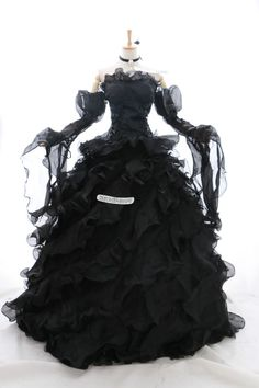 a-010 XL/XXL Braut schwarz Victorian Cosplay Kostüm Gothic Ballkleid ABEND-KLEID in Kleidung & Accessoires, Kostüme & Verkleidungen, Kostüme | eBay!