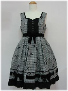 Angelic Pretty / Jumper Skirt / Flocky Ribbon JSK