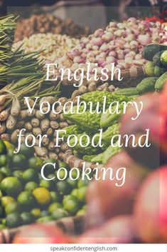 Learn how to talk about your country's cuisine, your favorite meals and recipes, what you cook, and how you celebrate holidays. Grow your vocabulary naturally! English Talk, Fluent English, English Food, English Lessons, Learn English, Advanced English Vocabulary, Food Vocabulary, English Language Learners, Teaching Tips