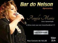 HOJE !!! ♥ Show de ANGELA MARIA comemorando 65 Anos de Carreira ♥ BAR DO NELSON ♥ SP ♥  http://paulabarrozo.blogspot.com.br/2014/06/hoje-show-de-angela-maria-comemorando.html