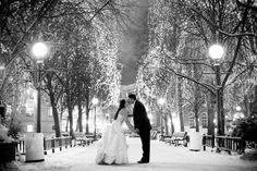 The perfect winter wedding photo