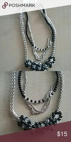 Unique black/silver necklace Necklace/earrings Jewelry Necklaces