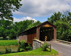 Covered bridges | Hunsecker Mill Covered Bridge - Lancaster County, PA | Flickr - Photo ...