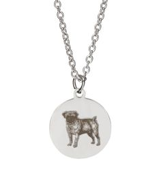 Stainless Steel Pug Necklace