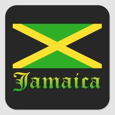 Shop Jamaica Flag, Black, Green and Yellow Square Sticker created by cutencomfy. Jamaica Flag, Jamaica Travel, Jamaican Women, Gadsden Flag, Online Gift Shop, Political Events, Birthday Woman, Aesthetic Pictures, Custom Stickers