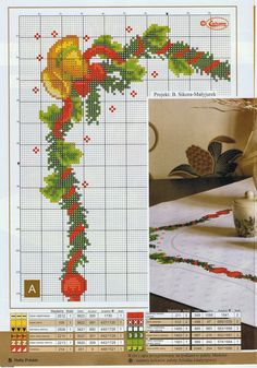 Blog com gráficos de ponto cruz