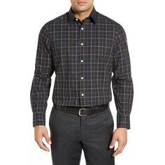 Smartcare™ Wrinkle Free Regular Fit Plaid Sport Shirt