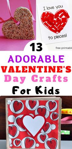Are you looking for some fun activities to keep the kids entertained on Valentine's Day? These 13 Creative Valentine's Day Crafts for Kids are surprisingly a little silly, but sure to delight your little sweeties. Valentines Day Food, Easy Valentine Crafts, Valentine Activities, Valentines Day Hearts, Valentines For Kids, Fun Activities, Valentine Ideas, Toddler Activities, Valentine's Day Crafts For Kids