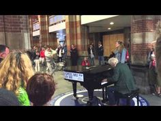 On Amsterdam CS stands a piano and everyone is allowed to play . And than this kind of things happen......