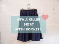 How to Sew | a killer DIY skirt with pockets
