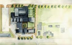 Resultado de imagen para watercolor rendering architecture plan