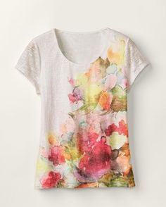 Water colour tees - instead of paying $60 use sharpies & rubbing alcohol