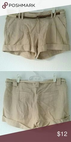 "C'EST TOI Brand Light Tan Shorts These shorts are the perfect springtime outfit staple, and even have a bit of a ""safari"" vibe to it. Comes with small, braided rope belt with leather endings. Two front pockets, no back pockets. New button in a tiny Ziploc in the right pocket - in case of fashion emergencies! Shorts"