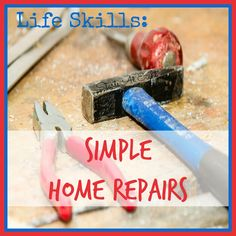 Life Skills: Simple Home Repairs is a guide for teaching kids common house…