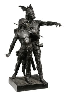 """Lot 228 from our November 10-11, 2012 Auction - Emile Laporte  (French, 1858-1907) [Pro Patria,] with foundry stamp for Siot-Deauville, signed """"Emile Laporte 84"""" and stamped """"F388"""", bronze, 35 x 21 x 17 in. - Estimate $3,000 to $5,000"""