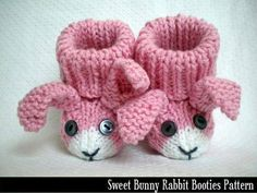 FabArtDIY Easter Crochet Projects and Tutorials:Bunny Rabbit Baby Booties Knitting Pattern FabArtDIY Easter Crochet Projects and Tutorials:Bunny Rabbit Baby Booties Knitting Pattern Baby Knitting Patterns, Knitting For Kids, Baby Patterns, Knitting Projects, Crochet Projects, Crochet Patterns, Doll Patterns, Baby Booties Knitting Pattern, Crochet Baby Shoes