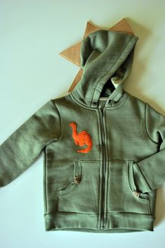 Just Another Day in Paradise: Project Handmade Christmas Presents: Hoodie-a-saurus Dinosaur Outfit, Cute Dinosaur, Handmade Christmas Presents, Another Day In Paradise, Big People, Little Man, Creative Crafts, Boy Outfits, Military Jacket