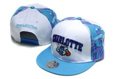 NBA New Orleans Hornets Snapback Hats Caps Mitchell And Ness White 2111! Only $8.90USD