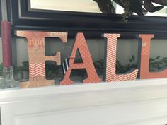 Wooden FALL letters by Ribbonnthreads on Etsy