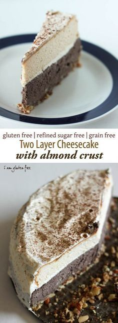 Gluten free & primal cheesecake with almond crust