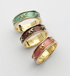 Galloping Horse Rings. These are so cute!! You can choose your own color, but I'm liking that mint one :)