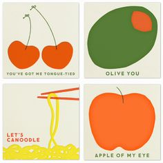 FOOD VALENTINES | minimal and graphic work of Erin Jang for The Indigo Bunting