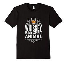 Men's Whiskey Is My Spirit Animal T-Shirt - Funny Drinkin…