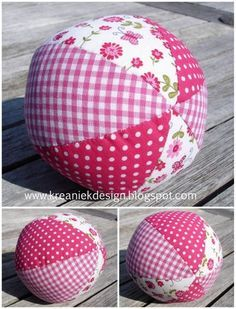 stoffen bal naaien - Google zoeken Sewing Crafts, Sewing Projects, Diy Crafts, Sewing For Kids, Baby Sewing, Kids Gifts, Baby Gifts, Sewing Clothes, Doll Clothes