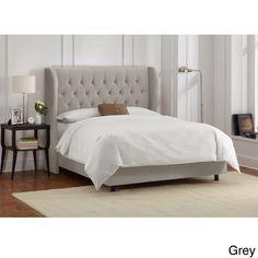 MASTER BEDROOM - BED SET - Made to Order King-Size Tufted Wingback Bed - Grey - $ 836.  http://www.overstock.com/Home-Garden/Made-to-Order-King-Size-Tufted-Wingback-Bed/10089574/product.html?refccid=2D3PTZJSLNHLJ5CPB7OVRVHCUQ&searchidx=16