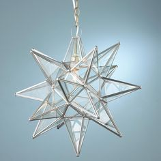 Superior Moravian Star Light nickle (silver) and clear glass. ceiling mount available Ceiling Fixtures, Light Fixtures, Ceiling Lights, Glass Ceiling, Mood Light, Light Up, Bath Light, Star Light Shade, Light Shades