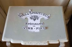 How to transfer print onto furniture, PART 2: Applying the Water Decals | Shabby Chic Stencils and Print Transfers