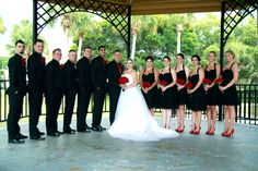 Black and red wedding party. View more from this black and red wedding: http://www.pinterest.com/nyxchamp/my-black-red-wedding/