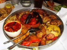 Hot Antipasti platter at Carmine's. What isn't in here? Nom!