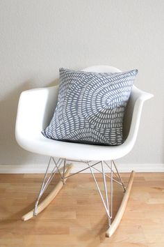 Rain Batik Pillow, Light Grey