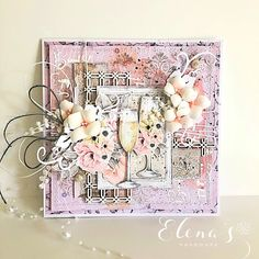 Today I am showing you this beautiful wedding card made from Mintay, ''Marry me!'' paper sets x and x Handmade Crafts, Diy And Crafts, Paper Crafts, Shabby Chic Cards, Card Making Tutorials, Hydrangea Flower, Creative Memories, Card Maker, Recipe Cards