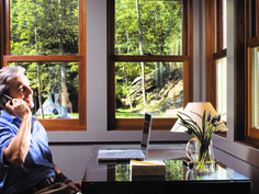 Beautiful office view made energy efficient with window film.