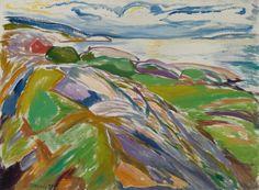 Thunderstruck (Edvard Munch (Norwegian, 1863-1944), Kystlandskap...)