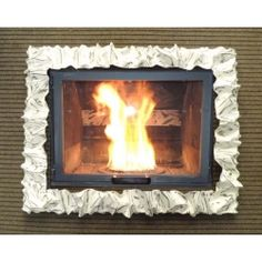 Frame design WROUGHT IRON for fireplace with or without LED. Customize creations. 400 Wrought Iron, Articles, Led, Frame, Design, Home Decor, Picture Frame, Decoration Home, Room Decor