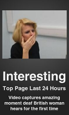 Top Interesting link on telezkope.com. With a score of 453. --- Video captures amazing moment deaf British woman hears for the first time. --- #interesting --- Brought to you by telezkope.com - socially ranked goodness