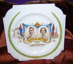 1939 Plate King George VI royal visit Canada US Aynsley bone china   TheLivesAndLovesOfMaggieTheCat - Ceramics & Pottery