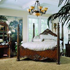 pulaski edwardian bedroom - King tall post bed