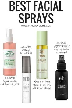 Best Facial Sprays. I have two of these and can personally say the rosewater and setting sprays are amazing! -KF