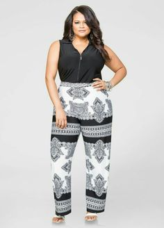 c9074f9d453e Zip Front Scarf Jumpsuit-Plus Size Dresses-Ashley