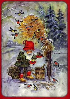 fete noel vintage gifs images - Page 9 Swedish Christmas, Christmas Elf, Winter Christmas, Vintage Christmas, Christmas Crafts, Christmas Knomes, Gnome Pictures, Elves And Fairies, Vikings