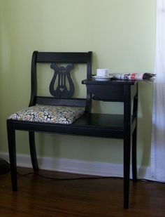 REFINISH table | Vintage Telephone Table Eco Refinish by KellyShermanDesign on Etsy
