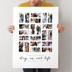 """A Day in Our Life"" - Custom Photo Art Print by Michelle Taylor in beautiful frame options and a variety of sizes. # photo collage ""A Day in Our Life"" - Custom Photo Art Print by Michelle Taylor."