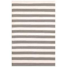 Dash & Albert Trimaran Stripe Fieldstone & Ivory Indoor/Outdoor Rug
